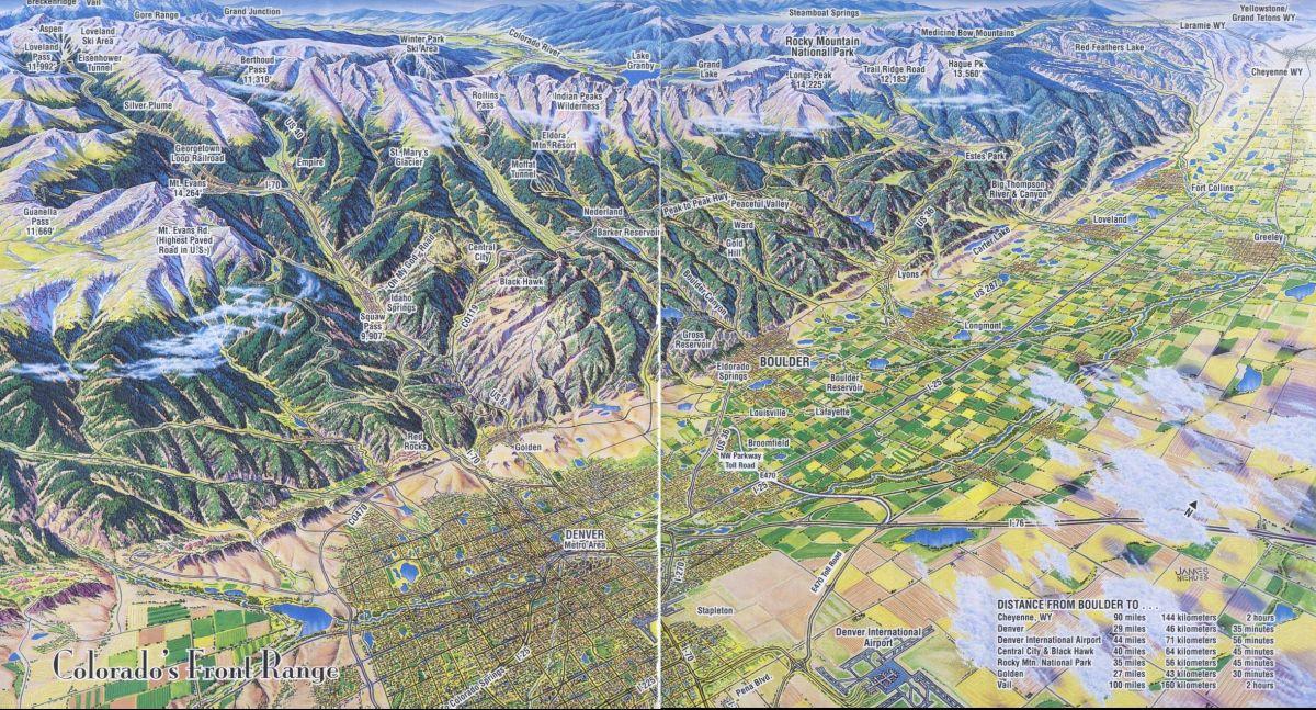 k) Map Colorado's Front Range.