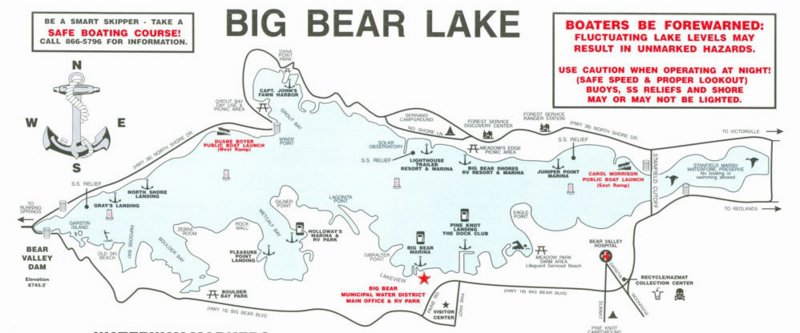 map big bear lake