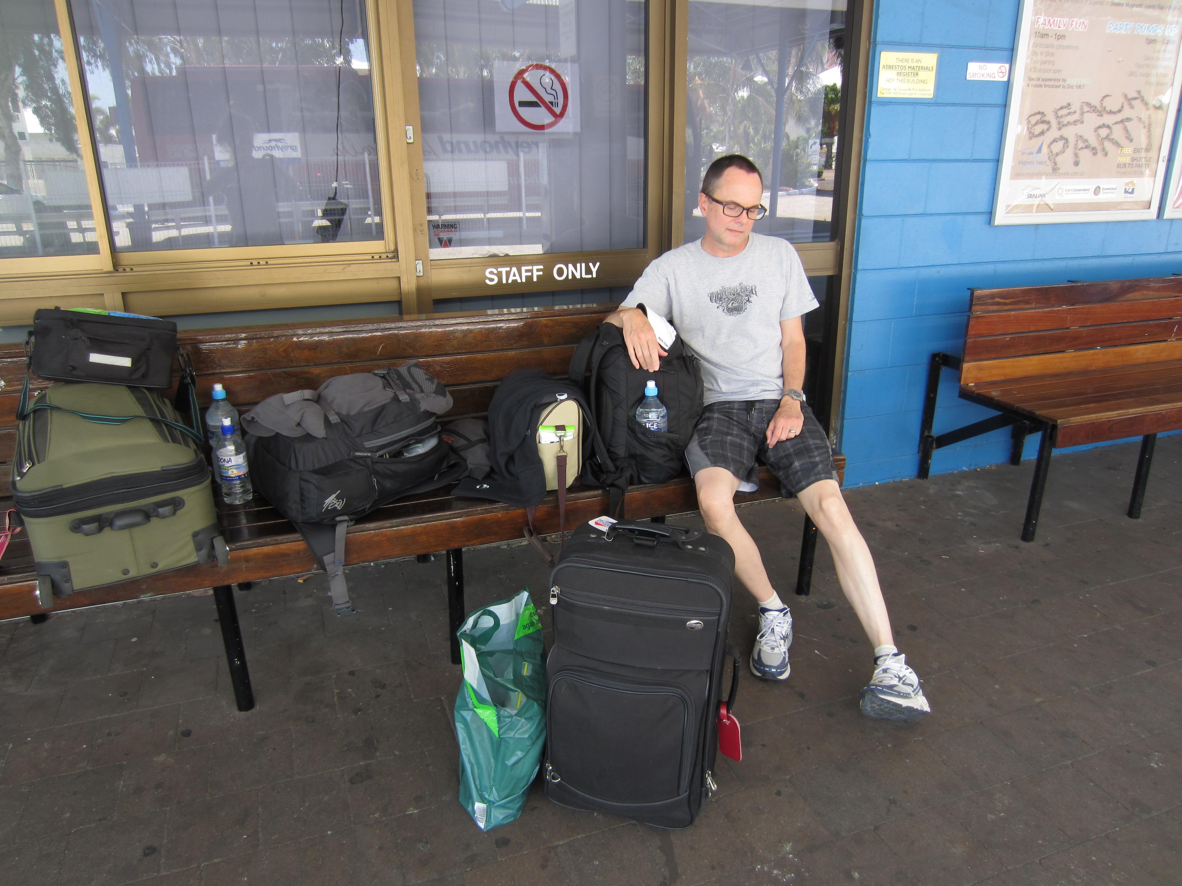 b) Townsville, Wednesday 12 October 2011 ~ Greyhound BusStop